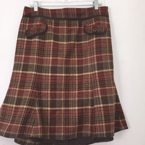 Ann Taylor Loft Studio Plaid Skirt Sz 14
